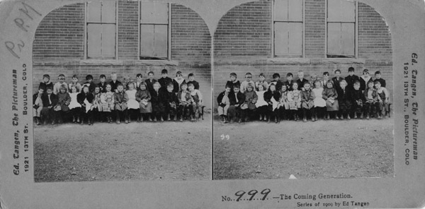 "Lafayette public school class, 1909, ""The coming generation"""