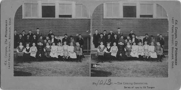 Lafayette Public School, secondary school class in 1909