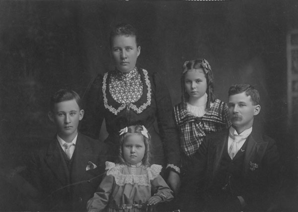 Formal portrait of the Fisher family