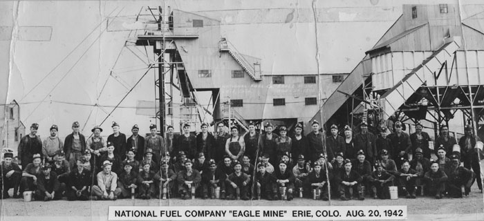 National Fuel Company, Eagle Mine, Erie, Colorado, Aug. 20, 1942