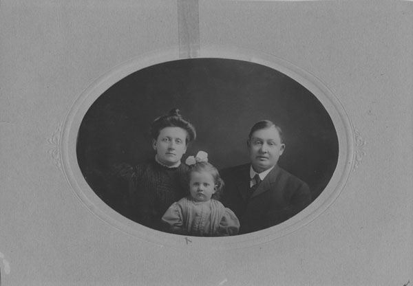 Mr. and Mrs. Joseph Vaughn and daughter Elizabeth