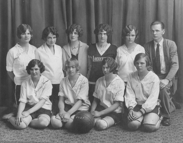 Lafayette High School girls basketball team, 1927