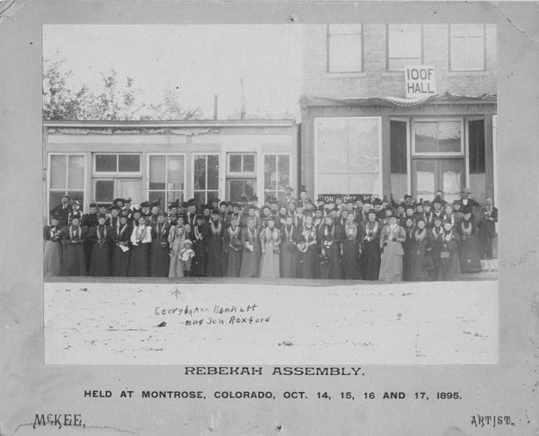 Rebekah Assembly held at Montrose, Colorado, Oct. 14, 15, 16 and 17, 1895