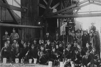 Mining crew at the Lehigh Mine