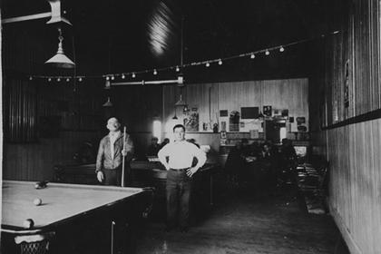 Pool hall in former Moon's Meat Market