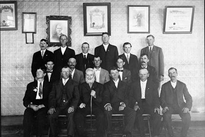 Odd Fellows group portrait
