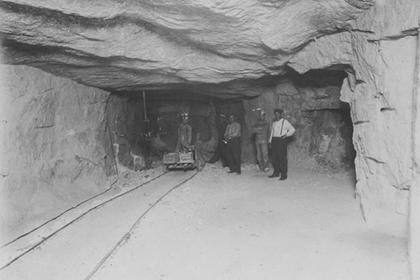 Interior of the Vulcan mine