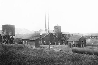 Industrial mine buildings