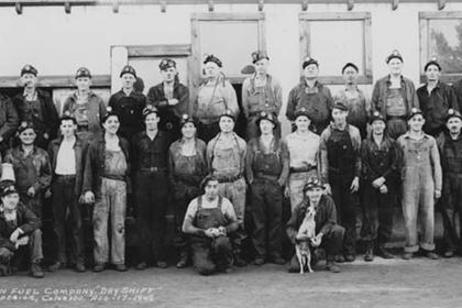 Rocky Mountain Fuel Company, the day shift at the Industrial Mine, Superior, Colorado, Aug. 17, 1942