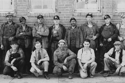 The Rocky Mountain Fuel Company foremen, Columbine Mine, Serene, Colo., Aug 13, 1942.
