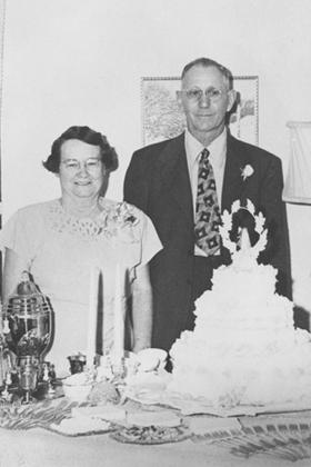 Jack and Grace Metz at their fiftieth wedding anniversary party