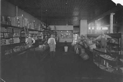 Rocky Mountain company store, grocery section