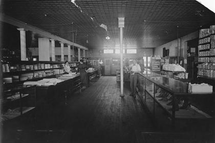 Rocky Mountain company store, dry goods section