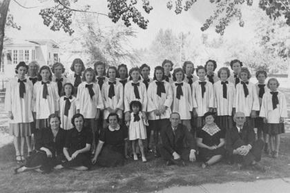Baptist Church girls choir, Lafayette