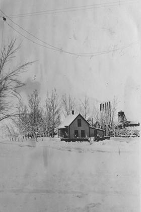 House and Simpson Mine in the snow