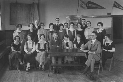 Administration and teaching staff, Lafayette schools, 1924.