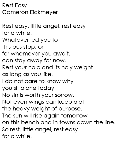 Rest Easy by Cameron Eickmeyer