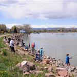 Fishing derby at Waneka Lake
