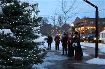Carolers at the holiday tree lighting