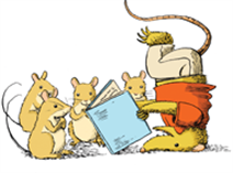 a Possum and mice reading 200 pix.png