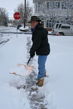 volunteer to shovel snow