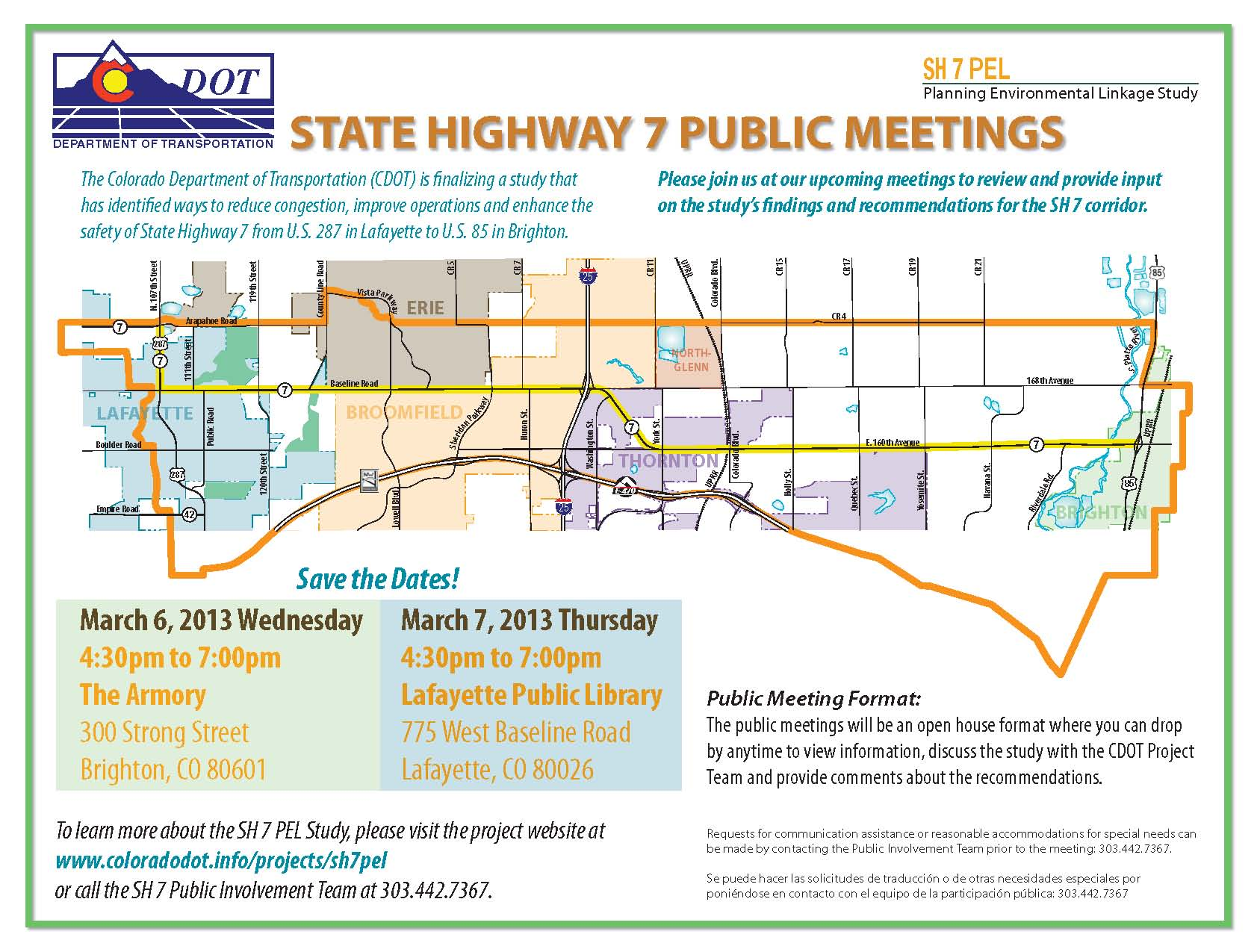 State Highway 7 March 2013 Meeting
