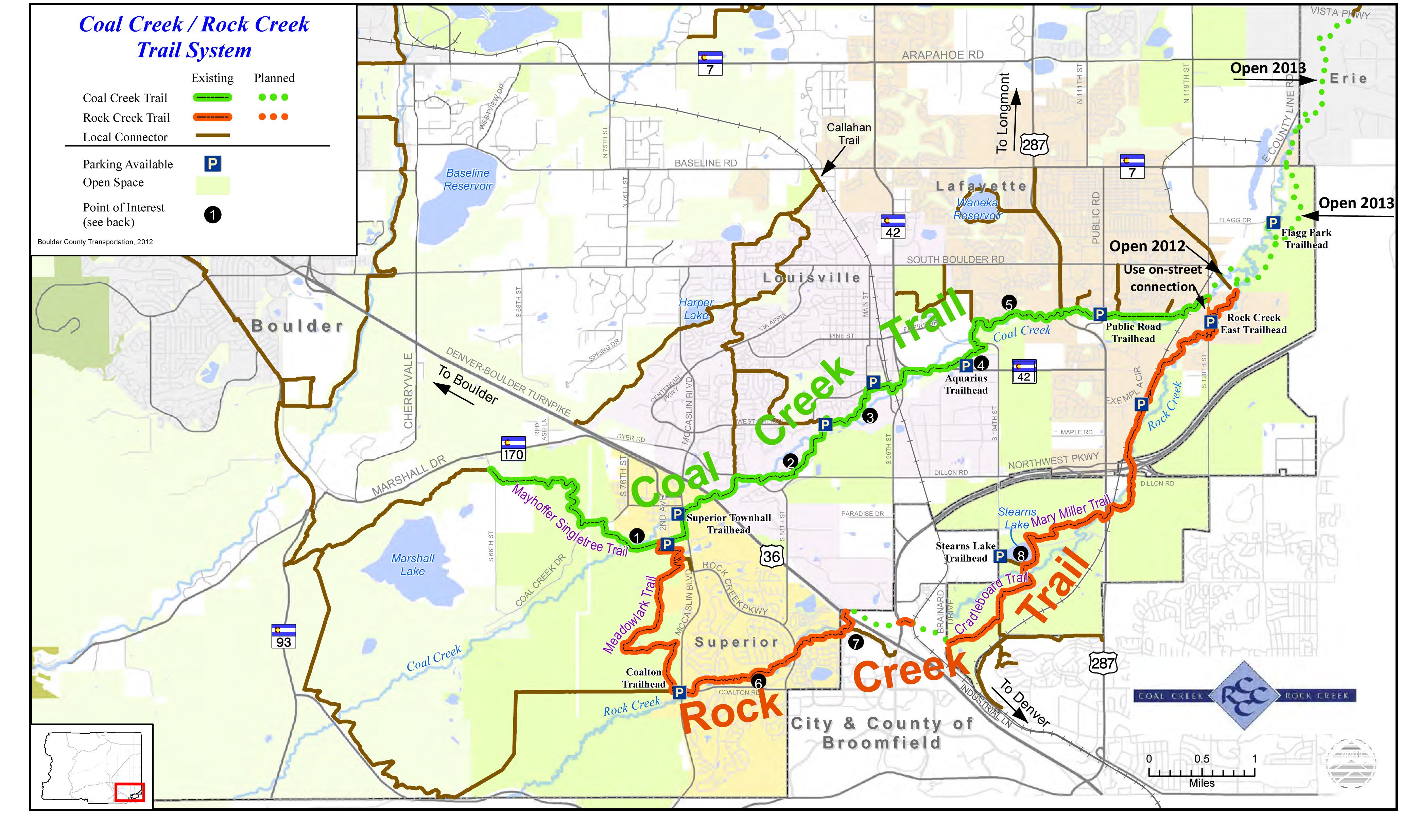 Coal Creek Rock Creek Regional Trail Map