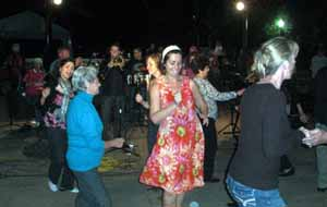 Dancing at Art Night Out