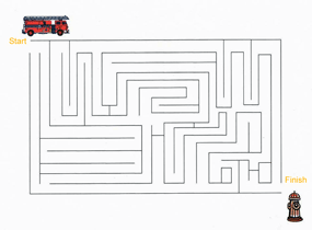 Fire safety maze