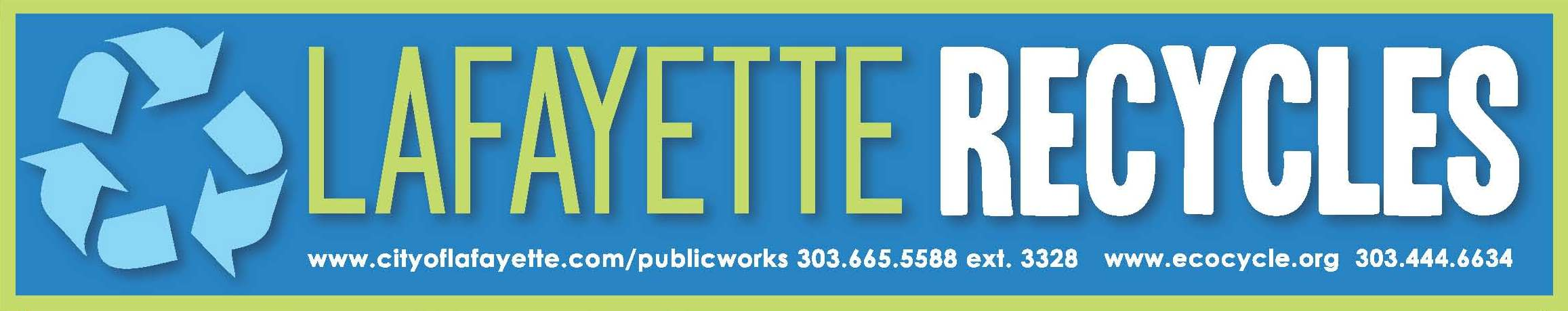 Lafayette Recycles banner